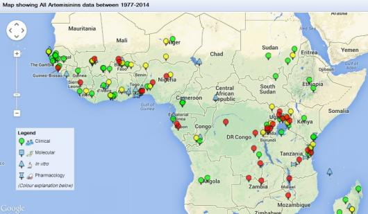 WWARN Explorer links our repository of standardised data into an interactive map