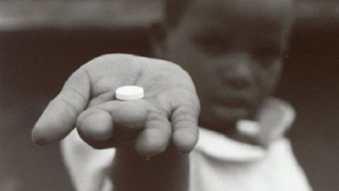 African Child with treatment