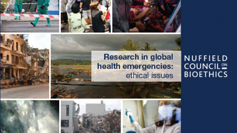 Collated images showing global health emergencies