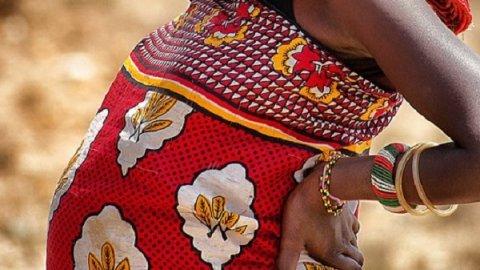 Samburu pregant African woman