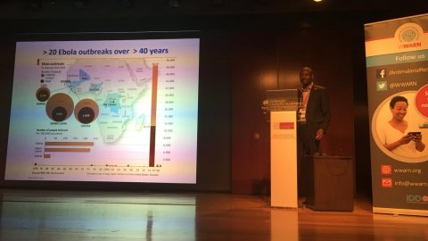 Sama Cherif presenting at 'Data-sharing for global research good' symposium