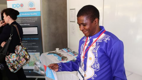 Delegates visit the IDDO exhibition stand