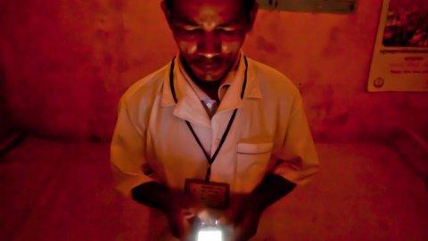 Man using mobile phone
