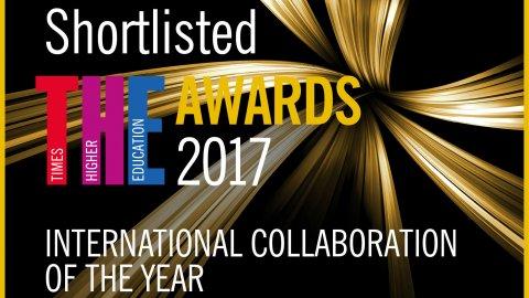 International Collaboration Award badge