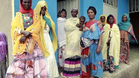 Photo shows women in Ethiopia